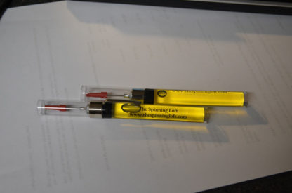 Refillable wheel oil pens from the Spinning Loft