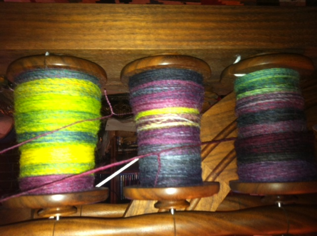 Cheviot yarn on the bobbin